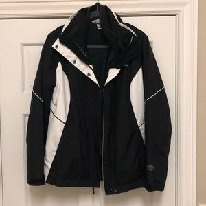 Colombia black and white ski jacket